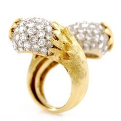 WEBB Anello oro, platino e brillanti