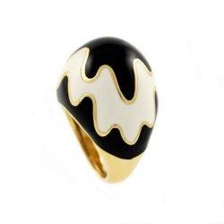 David Webb anello bianco nero