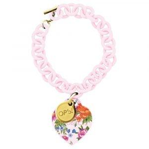 Ops bracciale fiori rosa