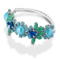Kebros Bracciale rigido Blossom azzurro