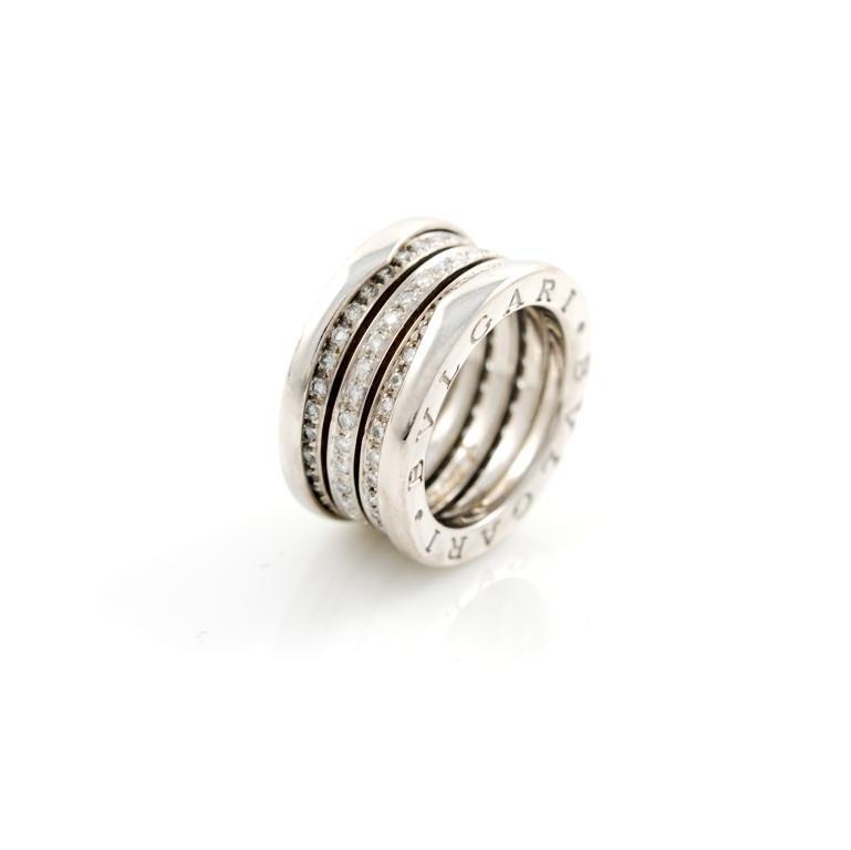 bulgari bzero1 anello oro bianco e brillanti