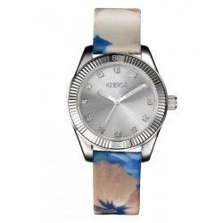 Kebros orologio Blossom acciaio e tessuto
