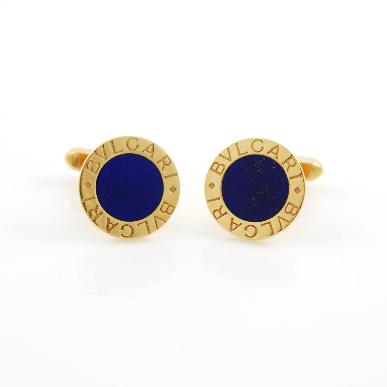 88e2c9a1895c8 BULGARI Lapis Lazuli Gold Cufflinks   Ottaviano VintageOttaviano Vintage